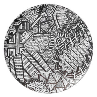 'Misdirection' Abstract Party Plates