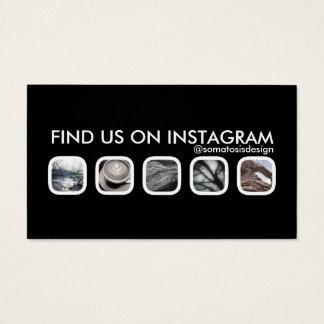 mise en réseau d'instagram cartes de visite