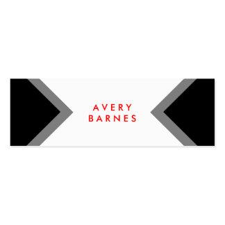 Mise en réseau noire et blanche minimaliste modern cartes de visite professionnelles