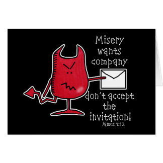Misery Wants Company-Devil with Envelope Card