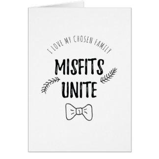 Misfits unite card
