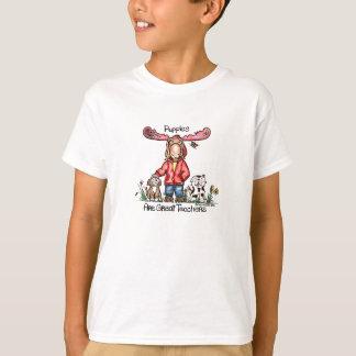 Misha Moose and Puppies T-Shirt