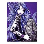 Misha Tattooed Butterfly Faery Fantasy Postcard
