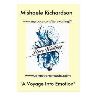 """Mishaele Richardson, """"un voyage… Carte De Visite Grand Format"""