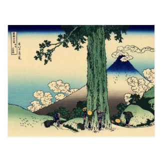 Mishima Pass in Kai Province (by Hokusai) Postcard