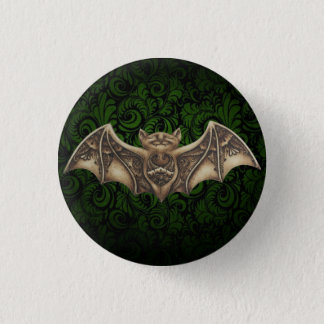 Mishkya the Bat Green Button Pin