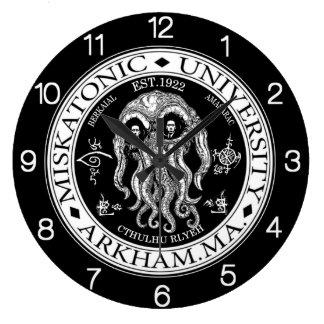 Miskatonic University CTHULHU HP LOVECRAFT CLOCK