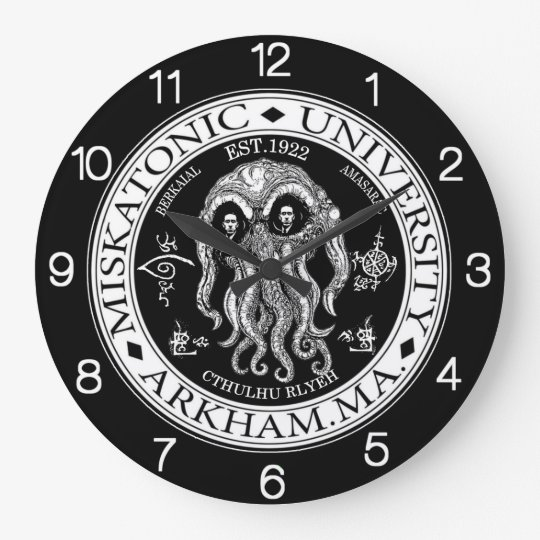 Miskatonic University CTHULHU HP LOVECRAFT CLOCK