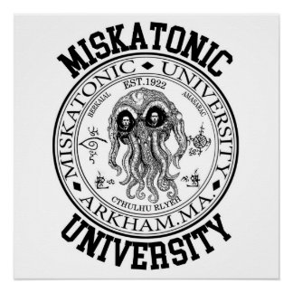 Miskatonic University CTHULHU HP LOVECRAFT Poster
