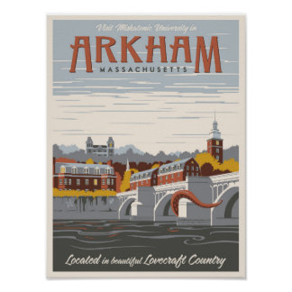 Miskatonic University in Arkham Poster