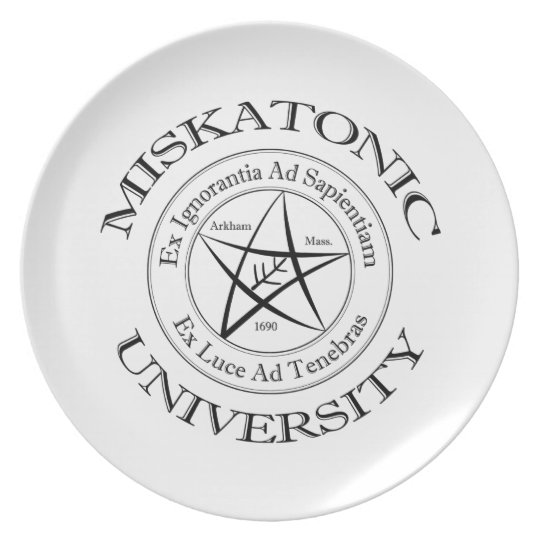 Miskatonic University Plate