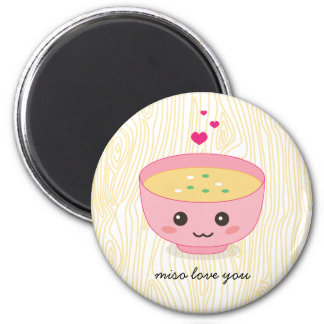 Miso Love You 2 Inch Round Magnet