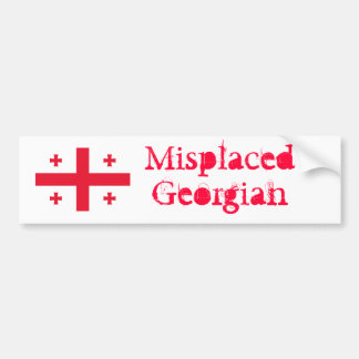 Misplaced Georgian Bumper Sticker