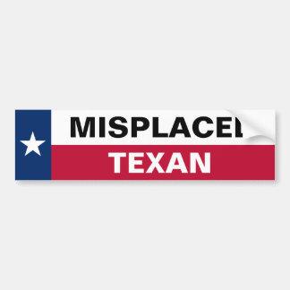 Misplaced Texan Bumper Sticker