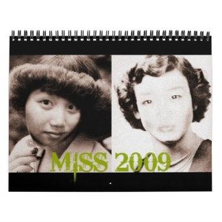 MISS 2009 calendar
