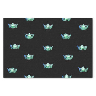 Miss America Aqua Green Crown Tissue Paper