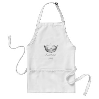Miss America B&W Crown Apron Date-Established
