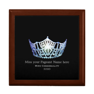 Miss America Baby Blue Crown Awards Jewelry Box