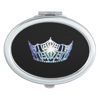 Miss America Baby Blue Crown Compact Mirror