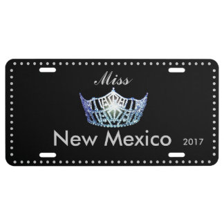 Miss America Baby Blue Crown License Plate