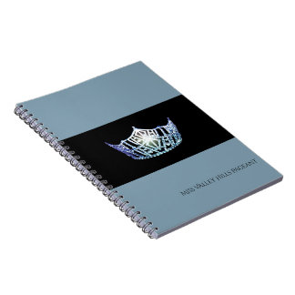 Miss America Baby Blue Crown Notebook- Custom Name Notebook