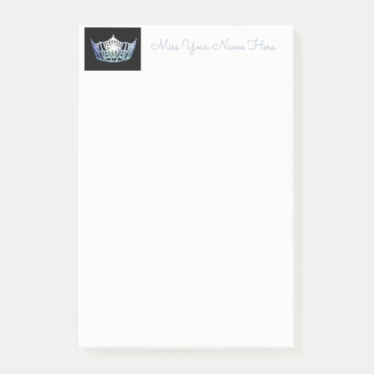 Miss America Baby Blue Crown Post-it-Notes Post-it® Notes