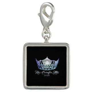 Miss America Baby Blue Crown SP Charm-Custom Name Charm