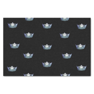 Miss America Baby Blue Crown Tissue Paper