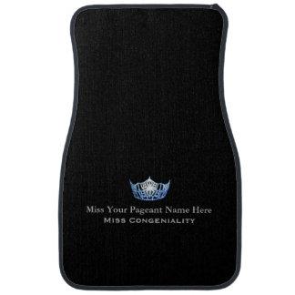 Miss America Blue Crown Custom Name Awards Car Mat