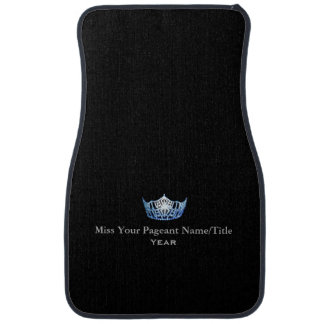 Miss America Blue Crown Custom Name & Year Car Mat