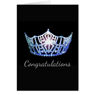 Miss America Blue Crown Greeting Card-Congrats Card