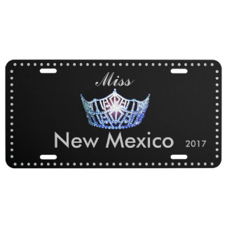 Miss America Blue Crown License Plate