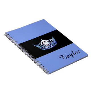 Miss America Blue Crown Notebook- Custom Name Notebook