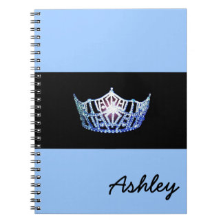 Miss America Blue Crown Notebook- Custom Name Notebooks