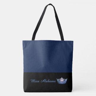Miss America Blue Crown Tote Bag-Large Navy