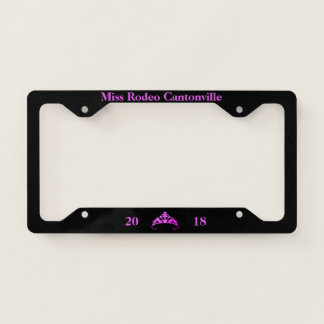 Miss America Fuchsia Tiara Custom License Frame