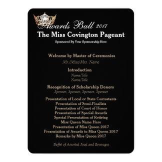 Miss America Gold Crown 2 Awards Ball Program Card
