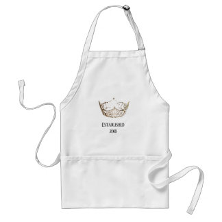 Miss America Gold Crown Apron Date-Established