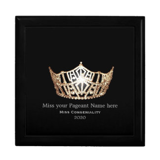 Miss America Gold Crown Awards Jewelry Box