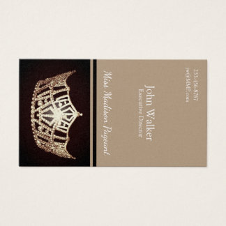 Miss America Gold Crown Business Cards