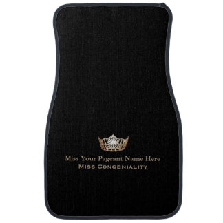 Miss America Gold Crown Custom Name Awards Car Mat