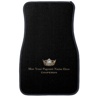 Miss America Gold Crown Custom Name Car Mat