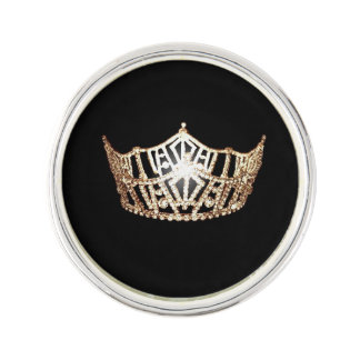 Miss America Gold Crown Lapel Pin