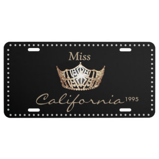 Miss America Gold Crown License Plate