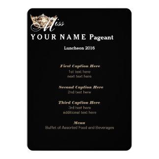 "Miss America Gold Crown Luncheon Program Card 5.5"" X 7.5"" Invitation Card"