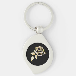 Miss America Golden Rose Metal Key chain