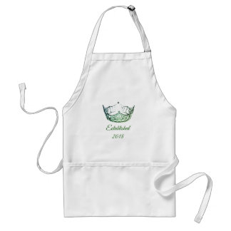 Miss America Green Crown Apron Date-Established