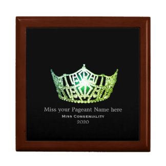 Miss America Green Crown Awards Jewelry Box