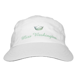 Miss America Green Crown Baseball Cap