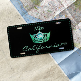 Miss America Green Crown License Plate